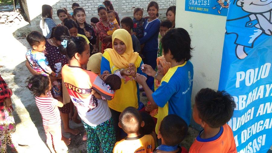 Puskesmas Sapuka Lk. Tangaya Melaksanakan Pin Polio Di 8 Pulau