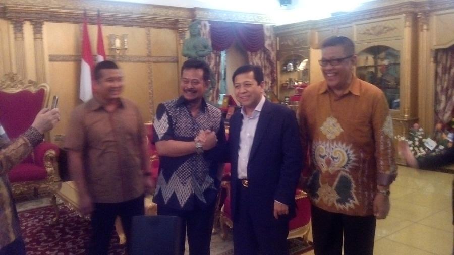 Jelang Munaslub Partai Golkar Setya Novanto Temui SYL