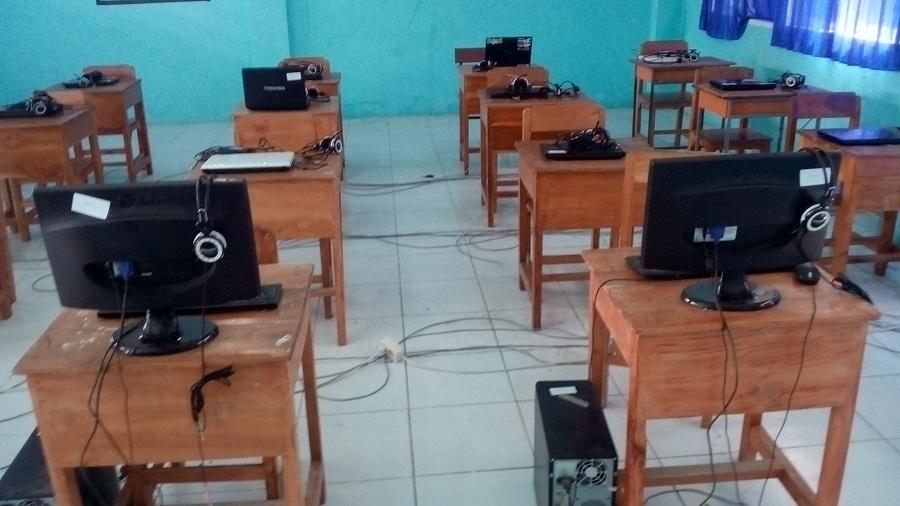 Kondisi Ruangan Ujian SMA Negeri 5 Makassar