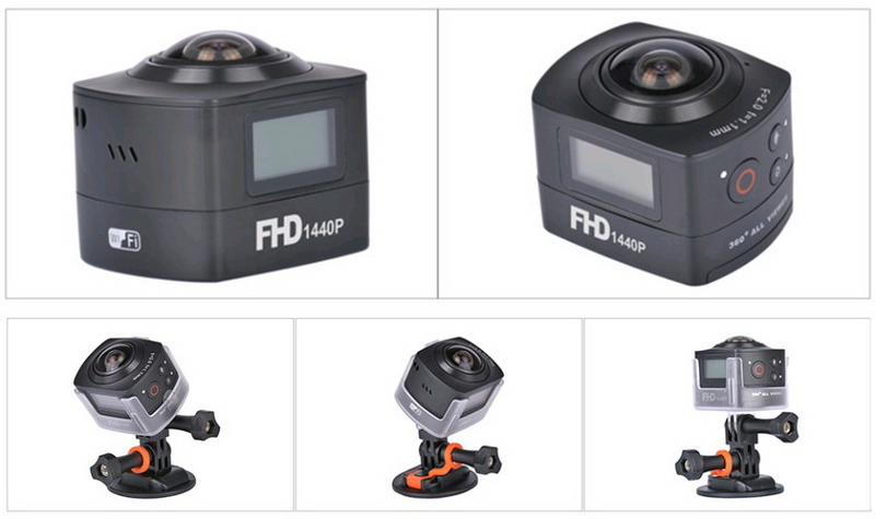 AMK100S, Kamera Aksi 360 Derajat Milik AMKOV yang Siap Saingi GoPro