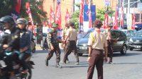 Pramuka Kwarcab Kota Tegal Gandeng BPBD Bantu Pemudik