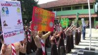 Pramuka SMP Negeri 1 Slawi Deklarasi Anti Narkoba