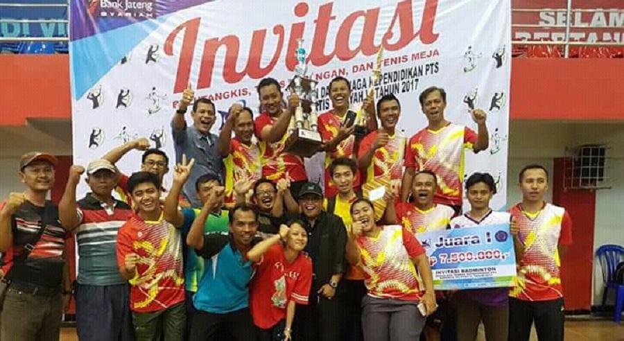 Universitas Pancasakti Sabet Juara Umum Invitasi Olahraga