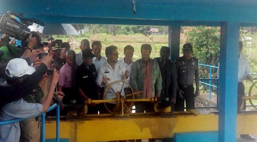 Gubernur Sulsel Resmikan Bendung Tabo-tabo Pangkep
