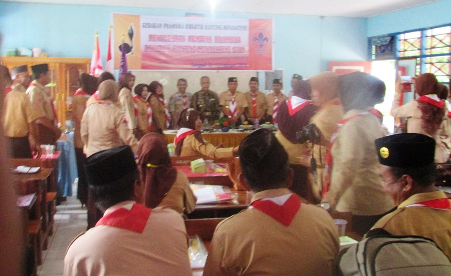 Kegiatan Penyegaran Pembina Pramuka Kwartir Ranting Minasatene