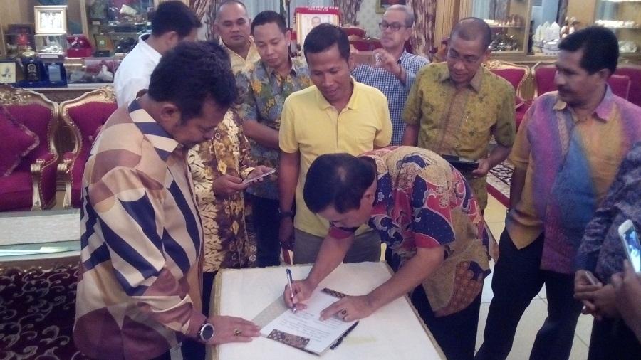 13 DPD dari Kepri Serahkan Dukungan Tertulis ke SYL