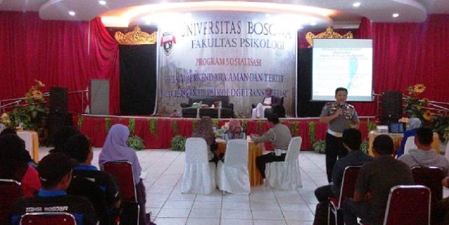 Fakultas Psikologi Universitas Bosowa Makassar Gelar Sosialisasi Tertib Berkendara