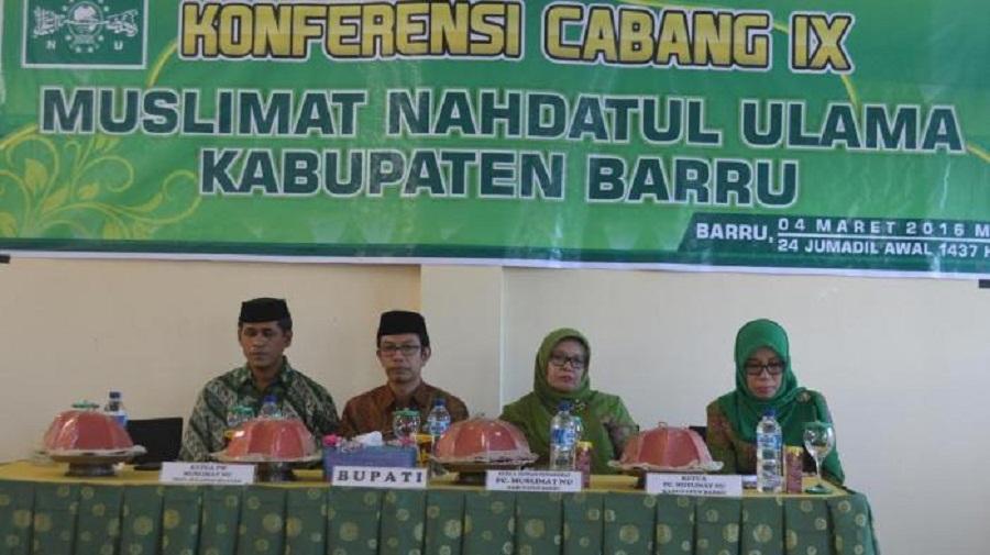 Upi Hastati Kembali Nahkodai Muslimat NU Kabupaten Barru