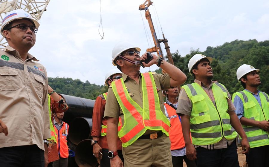 Gubernur Sulsel Tinjau Pembangunan Elevated Road di Camba