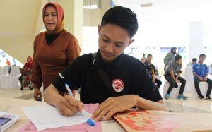 Tahap Pengumpulan berkas Lomba UKM antar Lorong Oleh Dinas Koperasi dan UMKM Kota Makassar