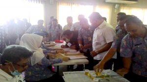 BNK Maros Lakukan Tes Urine Kepala Desa, Polisi dan TNI