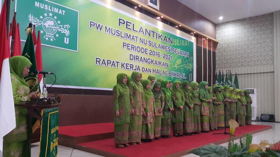 Majdah Agus Dilantik Sebagai Ketua Muslimat NU Sulsel