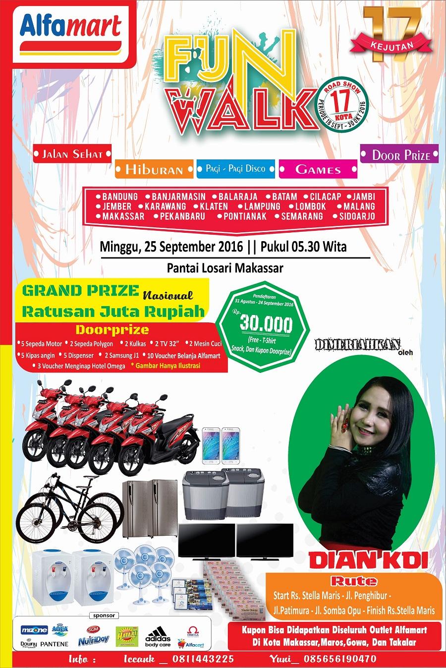 Event Funwalk Alfamart berhadiah Puluhan Juta Rupiah