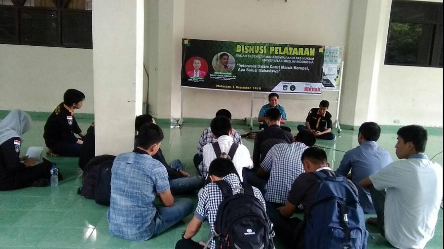 BEM FH UMI : Indonesia Carut Marut Korupsi, Apa Solusi Mahasiswa