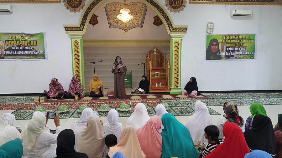 Majdah Agus Ajak Masyarakat Kelurahan Bulou Taddaburi Alqur'an
