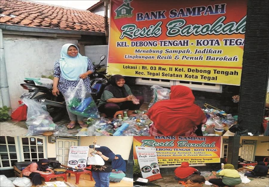 Jempol, Ibu-ibu PKK Kelurahan Debong Tegah RW 2 Ciptakan Bank Sampah Resik Barokah