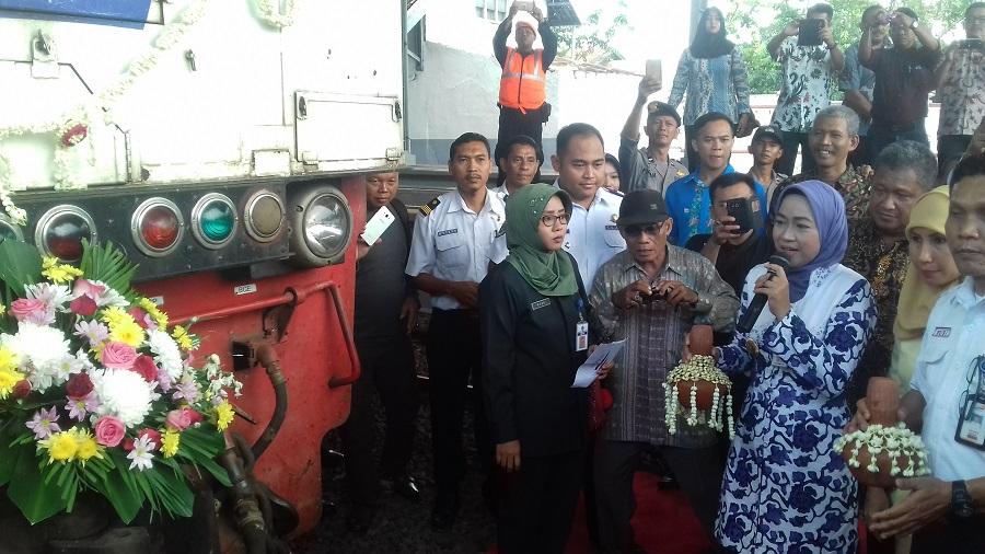 Mantap, Launching KA Kaligung New Image Rute Brebes-Semarang