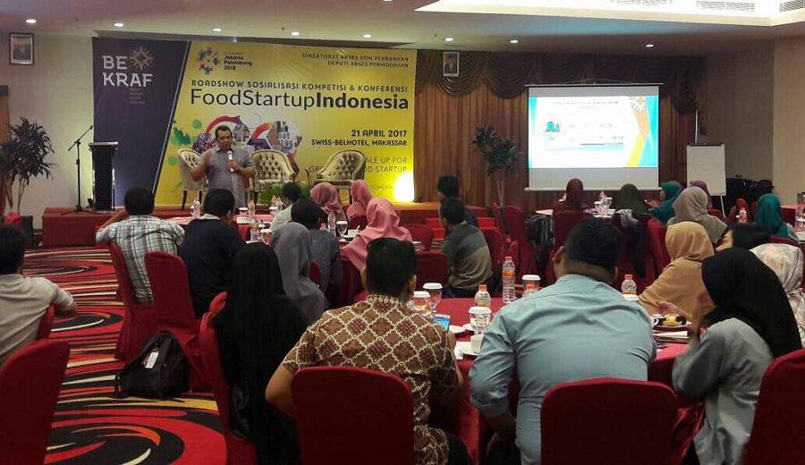 Pelaku Usaha Ekonomi Kreatif Kuliner Hadiri Roadshow dan Daftar Foodstartup Indonesia 2017