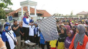 Seru, Warga Kelurahan Margadana Adakan Acara Jalan Sehat Memperingati HUT Kota Tegal ke 437