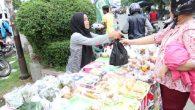 Salah satu pedagang dadakan ramadhan di kawasan alun-alun kota Tegal
