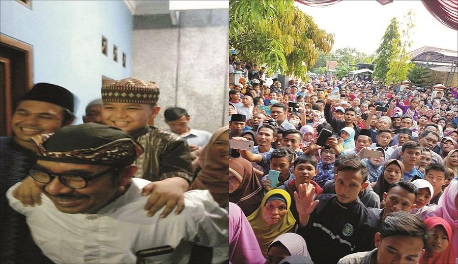 Ahmad si juara Hafidz Qur'an Indonesia di Sambut Meriah oleh Warga