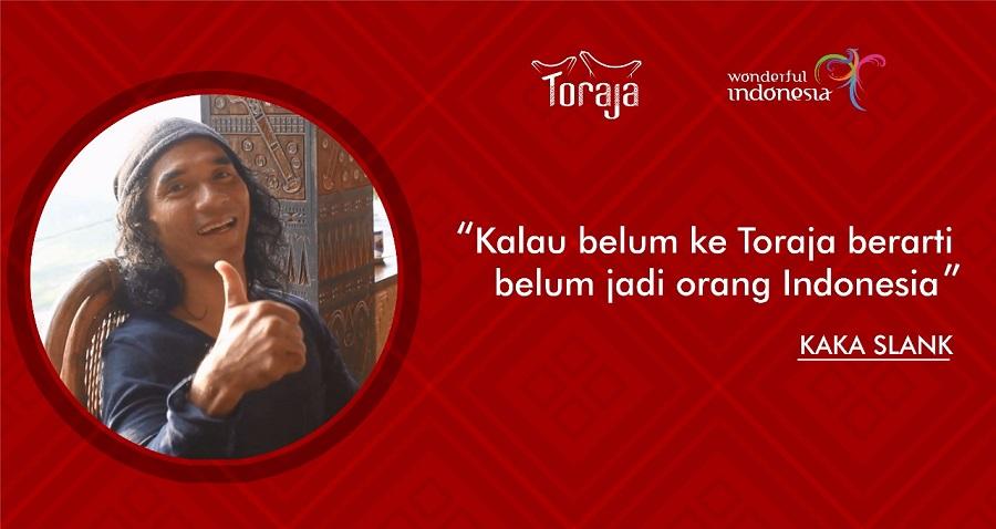 Kagum dengan Keindahan Toraja, Kaka Slank Ajak Orang Indonesia Kunjungi Toraja
