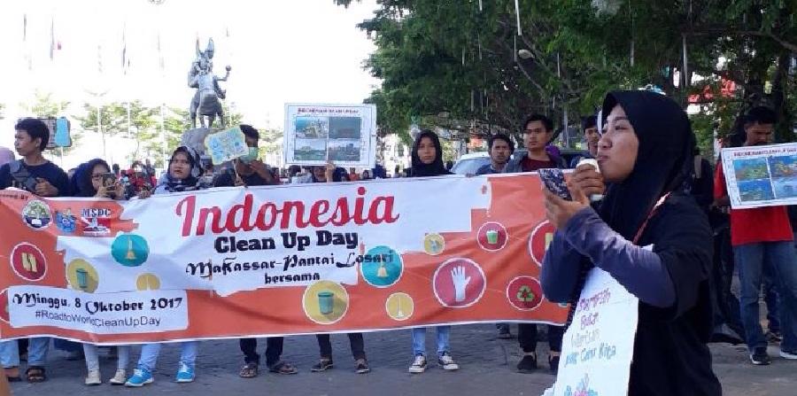 Ilmu Kelautan Unhas Adakan Indonesia Clean Up Day