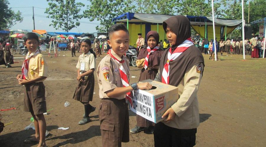 Pramuka Slawi Galang Dana Untuk Rohingya