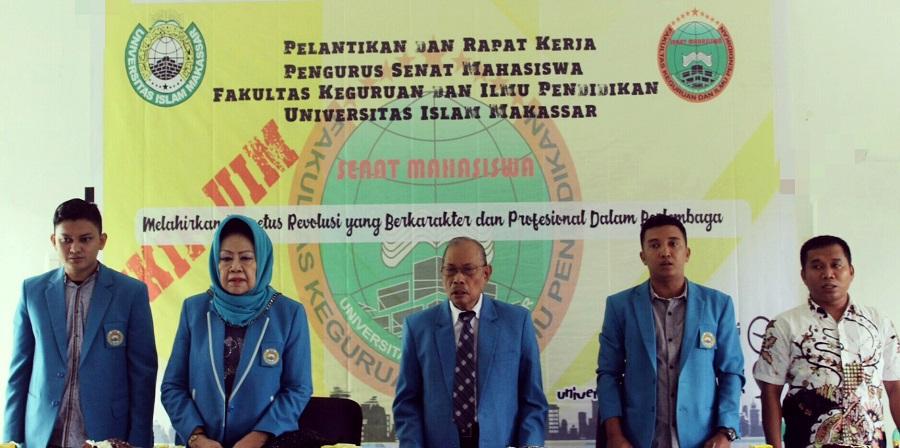 Dekan FKIP UIM Lantik Pengurus Senat Mahasiswa