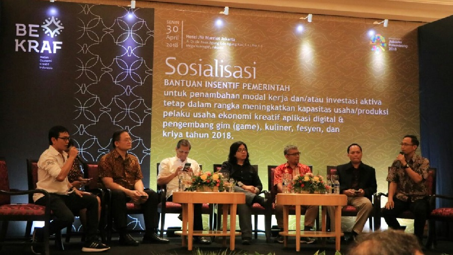Bekraf Gulirkan Bantuan Insentif Pemerintah 2018 untuk Pelaku Ekraf