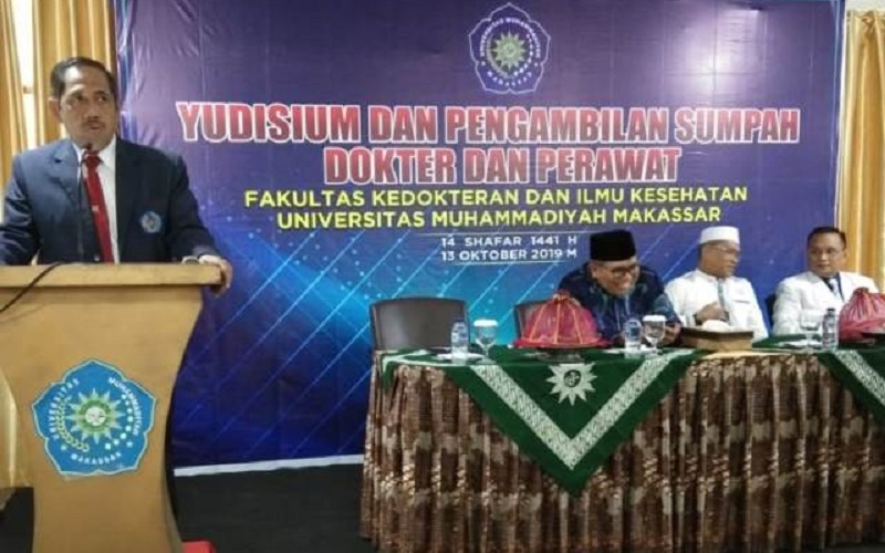13 Oktober 2019 - Yudisium FKIK Unismuh - rektor sambutan